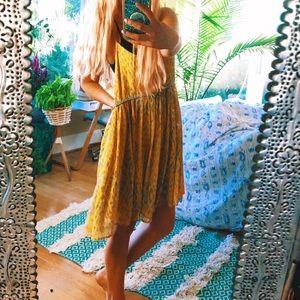 free people yellow picolina gypsy dress